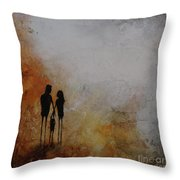 Three Of Us  Throw Pillow