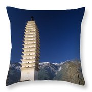 Three Pagodas Throw Pillow