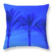 Three Palms And One Flag Throw Pillow