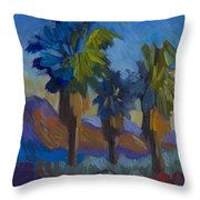 Three Palms At Palm Desert Throw Pillow