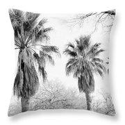 Three Palms Throw Pillow