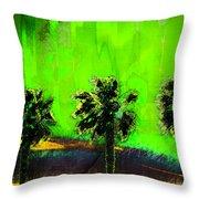 Three Palms IIi Throw Pillow