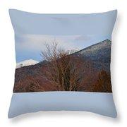 Three Peaks In Winter Throw Pillow