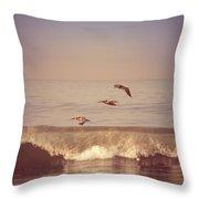 Three Pelicans Throw Pillow