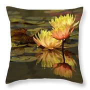 Three Perfect Lilies Throw Pillow