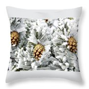 Three Pinecones Throw Pillow