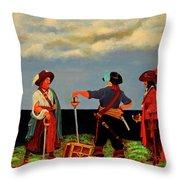 Three Pirates Throw Pillow
