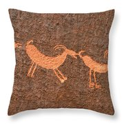 Three Playful Sheep Throw Pillow