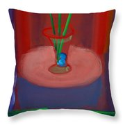 Three Poppies In A Vase Throw Pillow