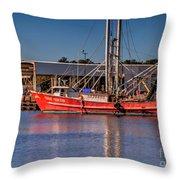 Three Princess Schrimpboat Throw Pillow