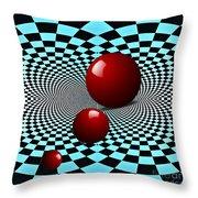 Three Red Balls Throw Pillow