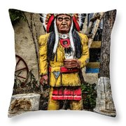 Three Rivers Indian Throw Pillow
