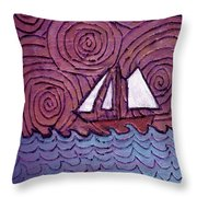Three Sails And The Wind Throw Pillow
