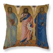 Three Saints Throw Pillow