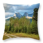 Three Sisters And A Dirt Road Throw Pillow