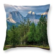 Three Sisters And The Railroad Throw Pillow