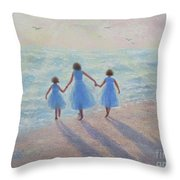 Three Sisters Beach Throw Pillow
