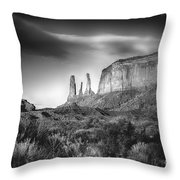 Three Sisters Formation At Monument Valley Throw Pillow