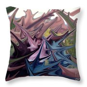 Three Sisters In Sedona Throw Pillow