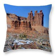Three Sisters On Guard Throw Pillow