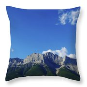 Three Sisters Ridges Canmore Alberta Gateway To Banff National Park Throw Pillow