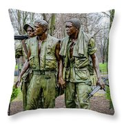 Three Soldiers Memorial Throw Pillow