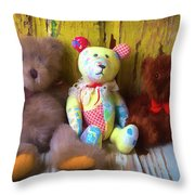 Three Special Bears Throw Pillow