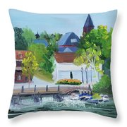 Three Spires Throw Pillow