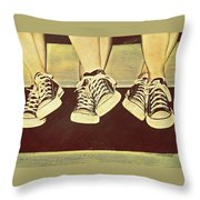 Three Stooges Throw Pillow