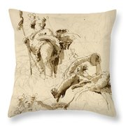 Three Studies Of The God Bacchus Throw Pillow