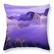Three Summits. Julian Alps Throw Pillow