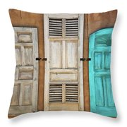 Three Taos Doors Throw Pillow
