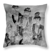 Three Tenors And A Pianist Throw Pillow