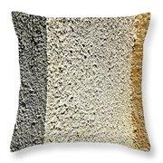 Three Textures Throw Pillow