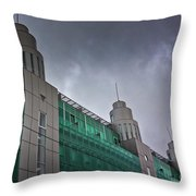 Three Towers In Tallinn Throw Pillow
