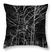 Three Trees In Black And White Throw Pillow