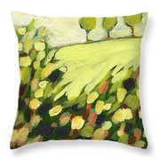 Three Trees On A Hill Throw Pillow by Jennifer Lommers