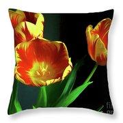 Three Tulips Photo Art Throw Pillow