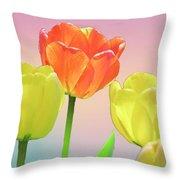 Three Tulips. Throw Pillow