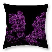Three Very Purple Lilacs Throw Pillow