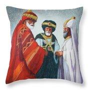 Three Wise Men Throw Pillow