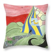 Three Wise Swans  Throw Pillow