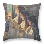 Three Wise Virgins Throw Pillow