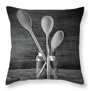 Three Wooden Spoons Throw Pillow