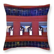 Threereflective Columns Throw Pillow