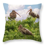 Three's A Crowd Throw Pillow