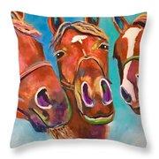 Threes Company Throw Pillow
