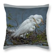 Three's Not A Crowd Throw Pillow