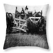 Threshing Day Throw Pillow