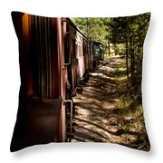Threw The Woods Throw Pillow